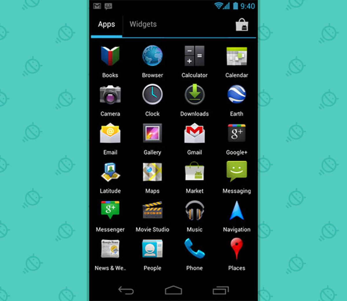 Android Widgets ICS App Drawer