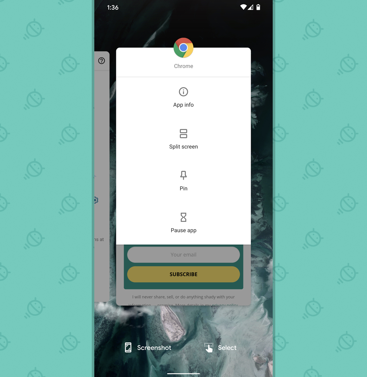 Android Security Settings: App pinning