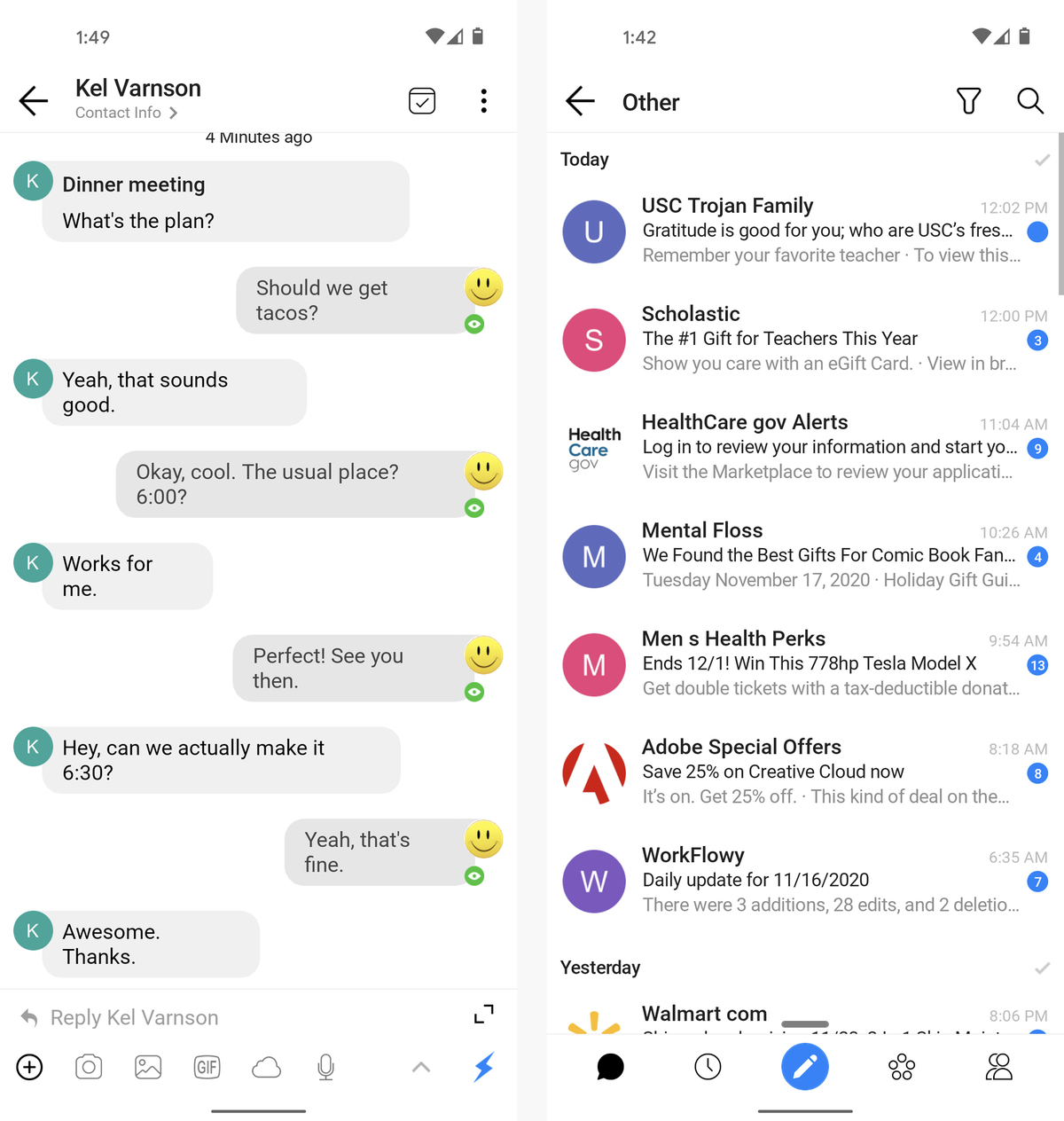 android email texting apps spike