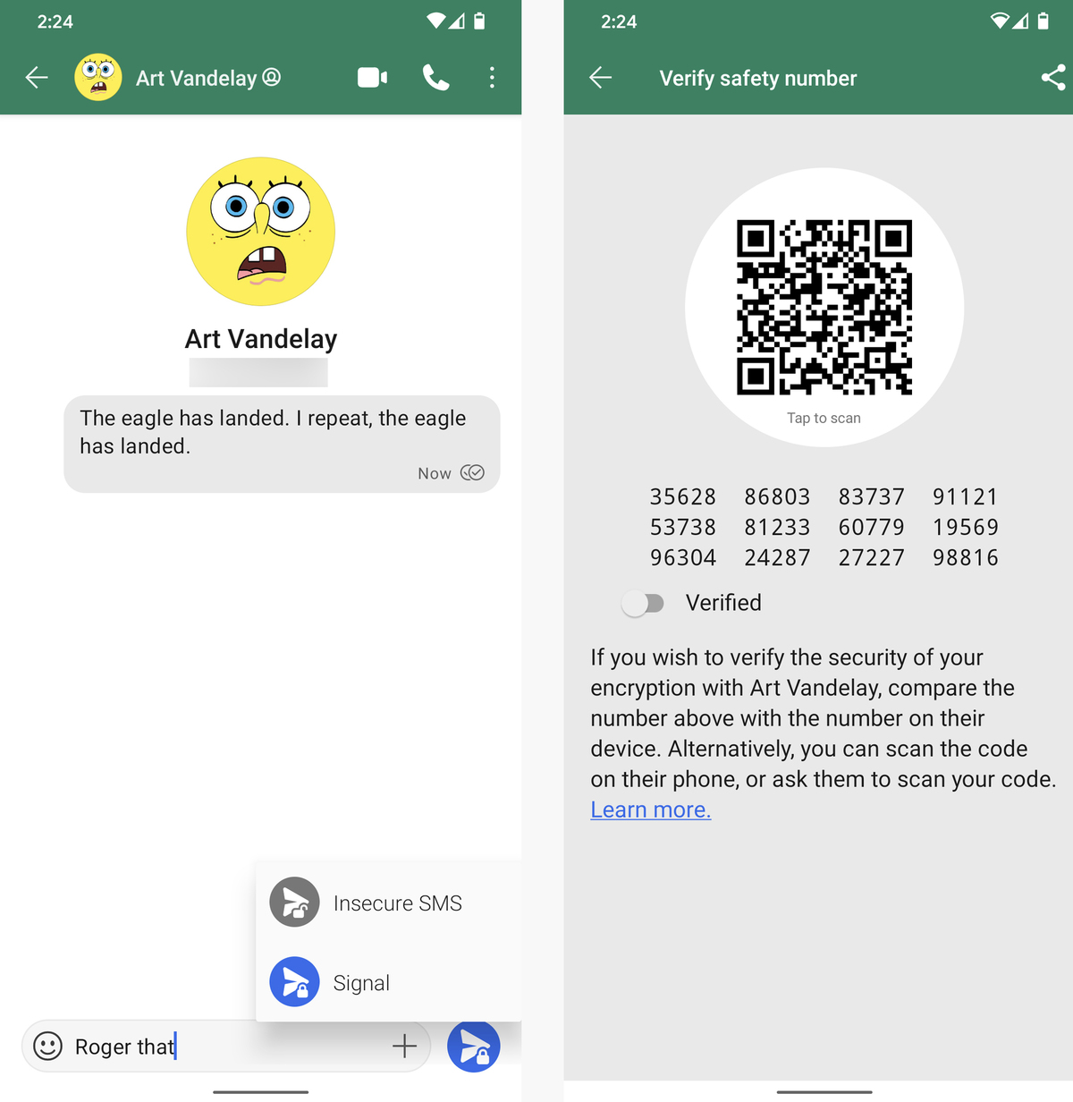 android email texting apps signal