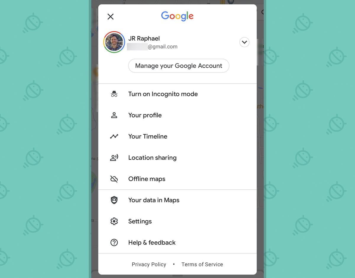 Android Consistency: Google Maps share menu