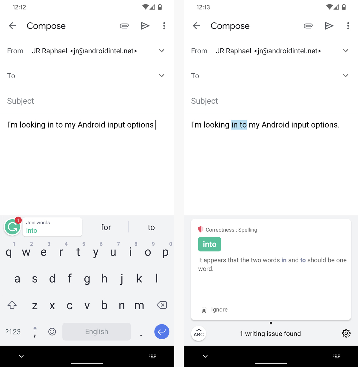 05 android keyboard apps grammarly correction