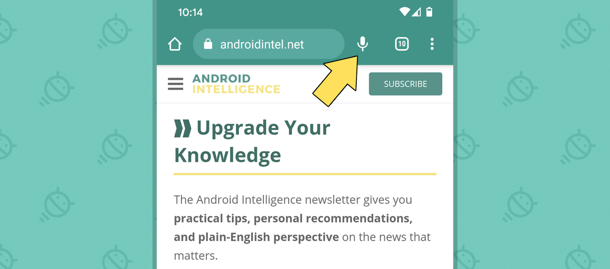 Chrome Android Sharing Settings: Microphone (in address bar)