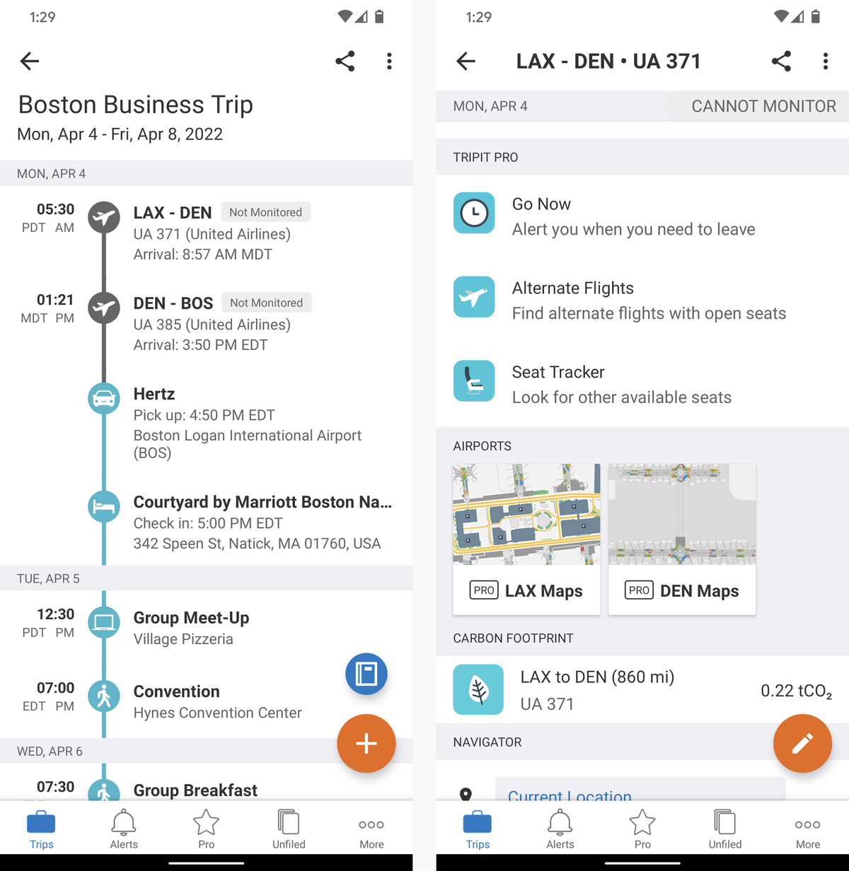 android organization apps google tripit