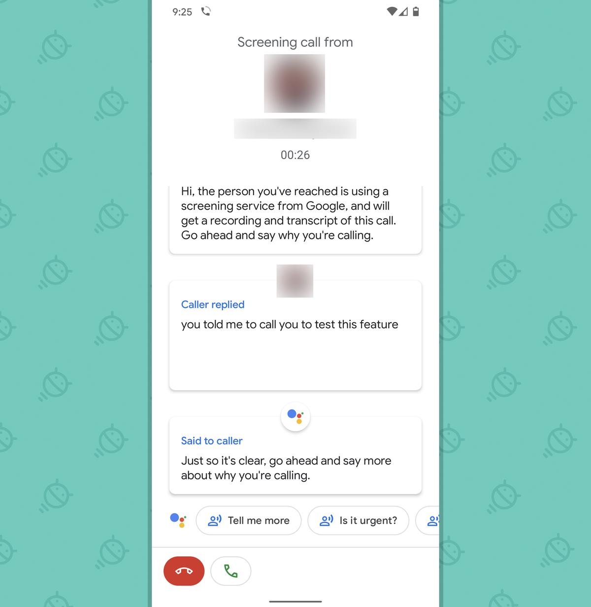 Pixel features: Call screen (manual)