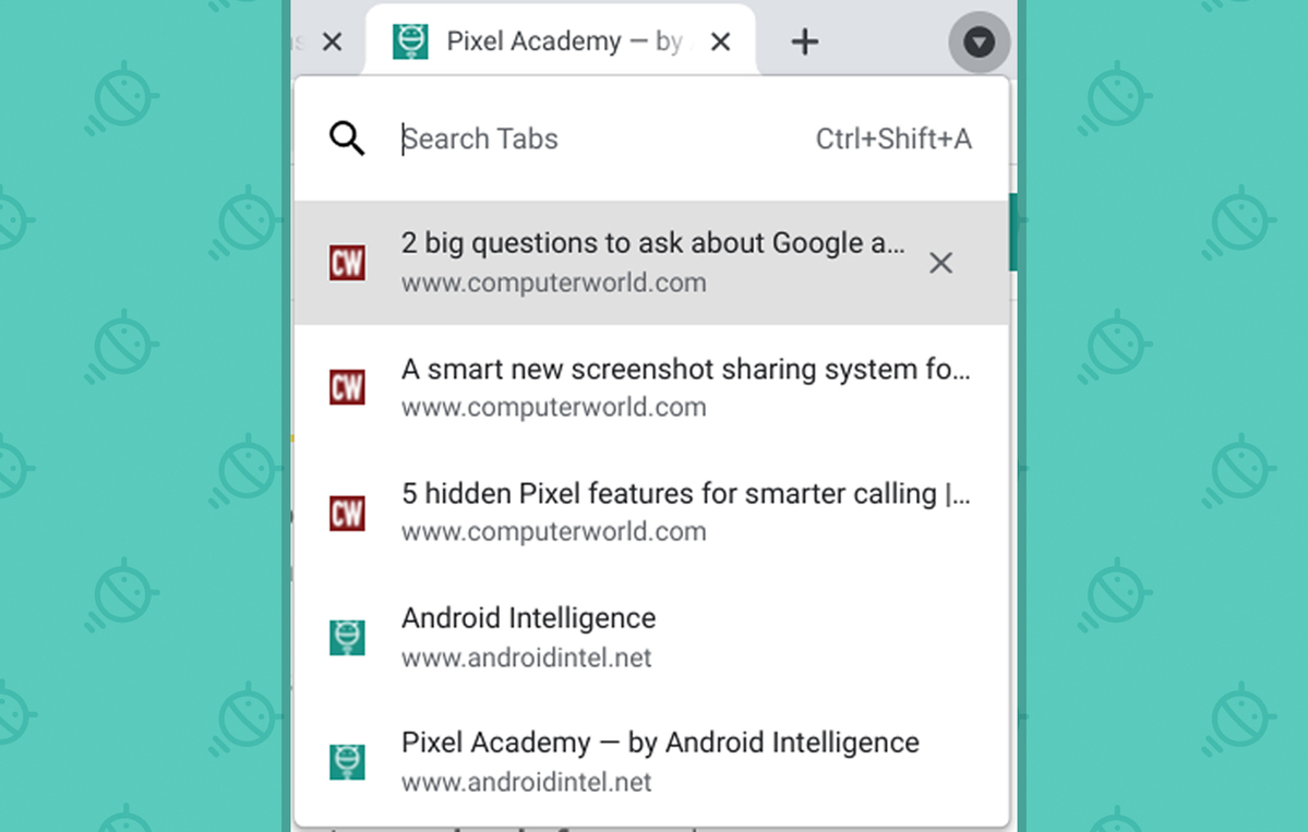 Chrome Features: Search tabs
