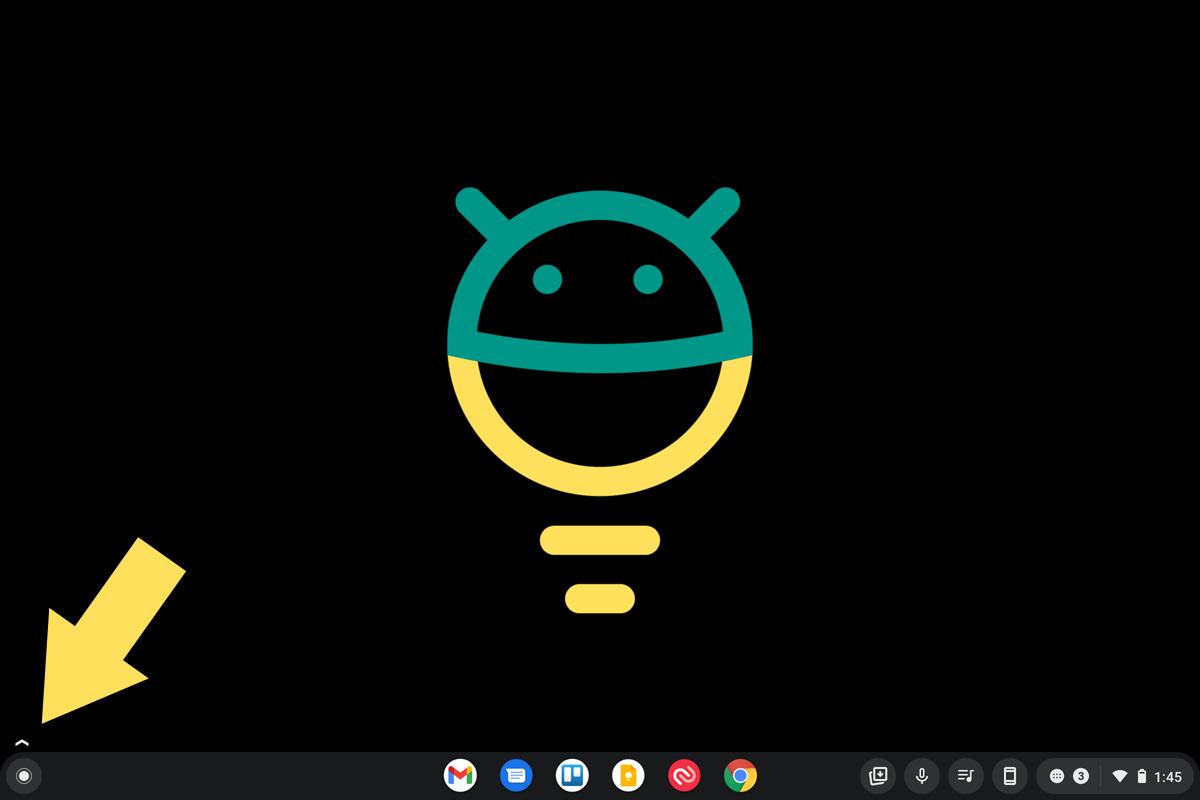Chrome OS Widgets Arrow
