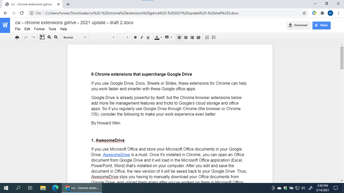 chrome extensions gdrive office editing