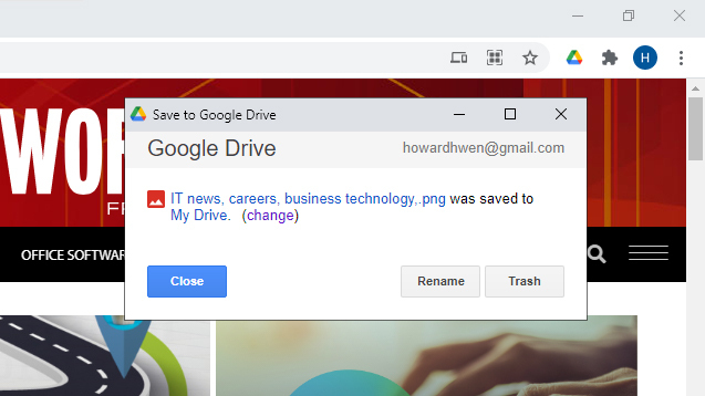 chrome extensions gdrive save to google drive