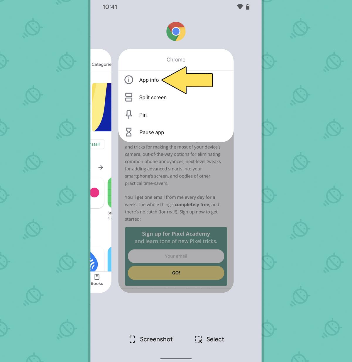 Pixel Features: Overview app info