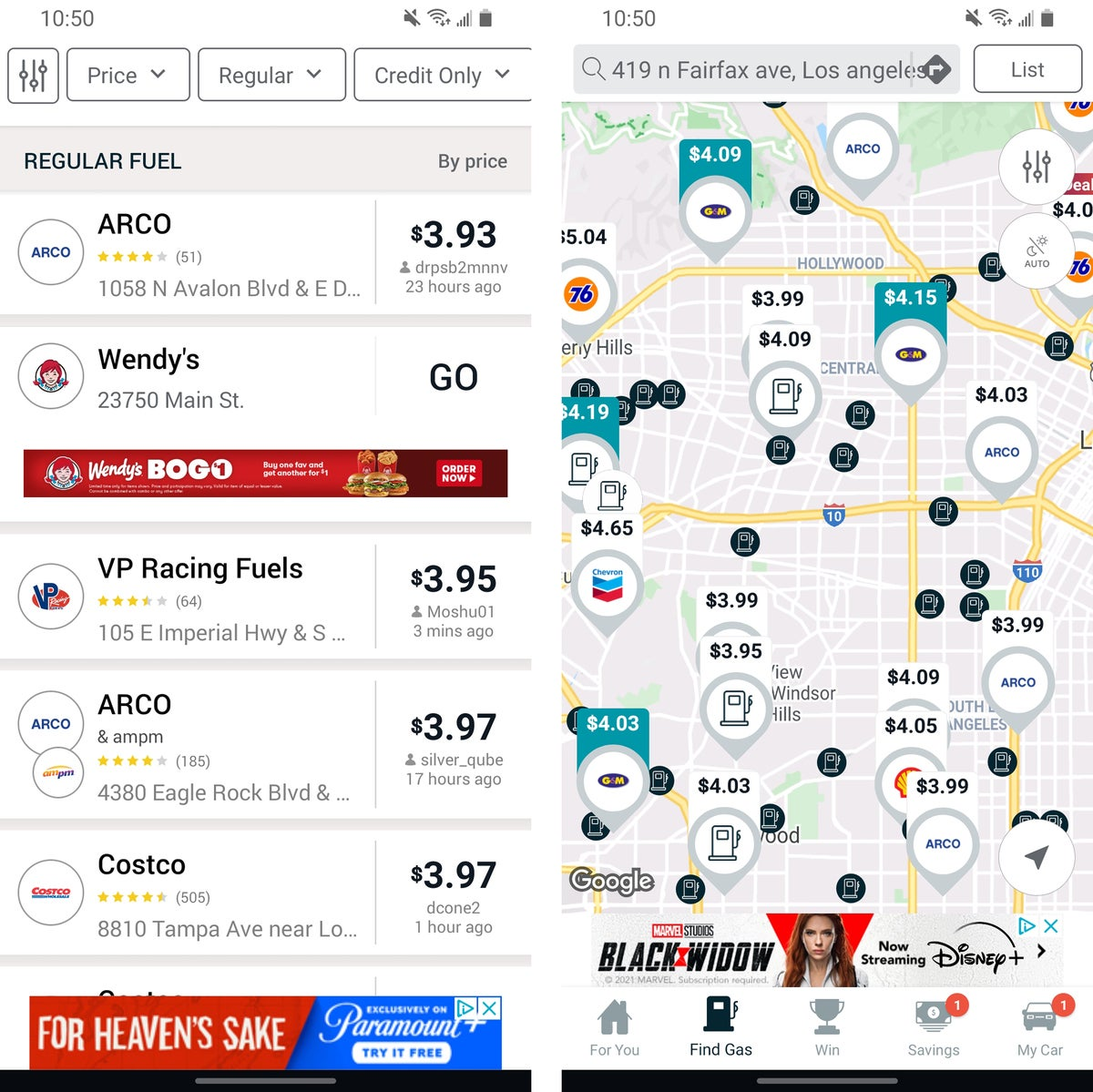 android travel apps gasbuddy 2021