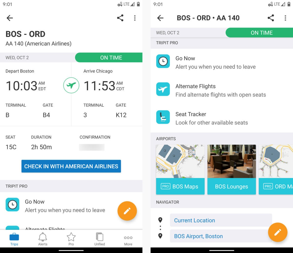 android travel apps tripit